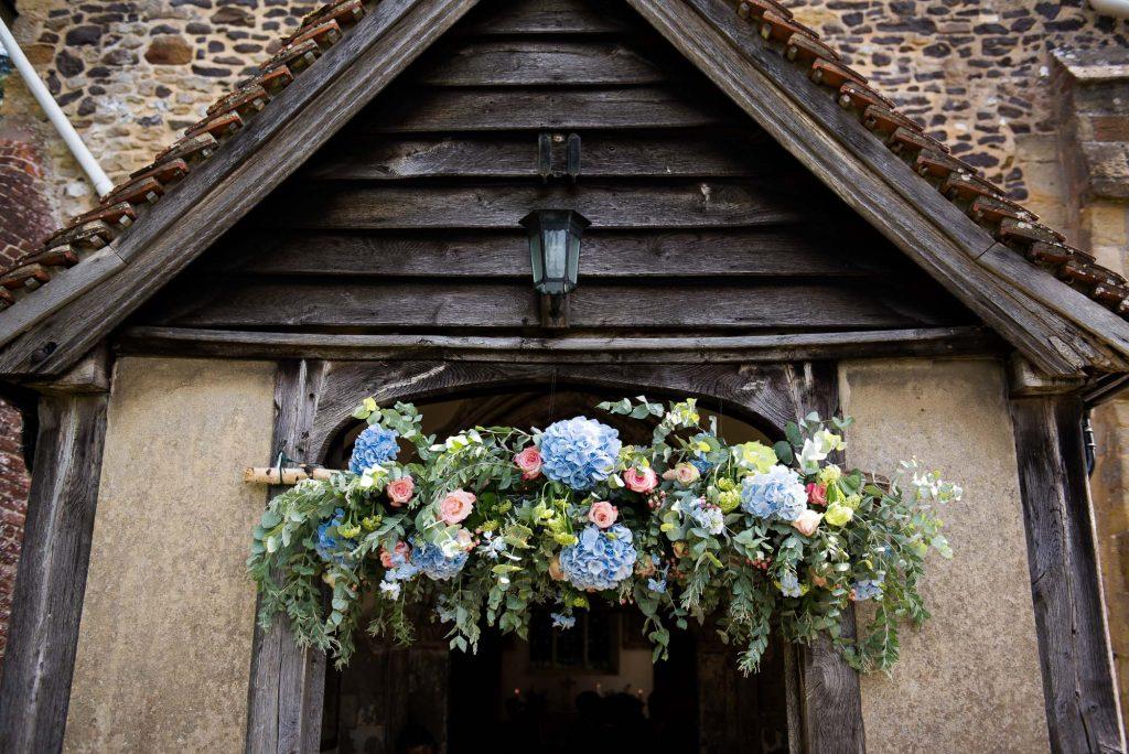 Hannah Martin Flowers church wedding decor