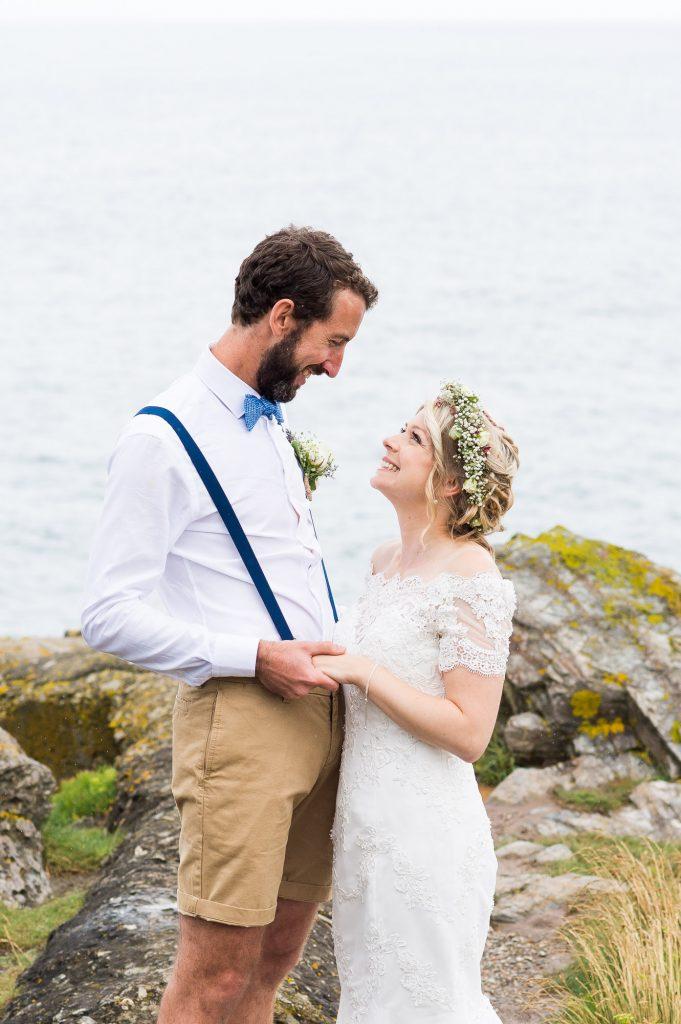 Beautiful and honest imagery wedding portrait Cornwall