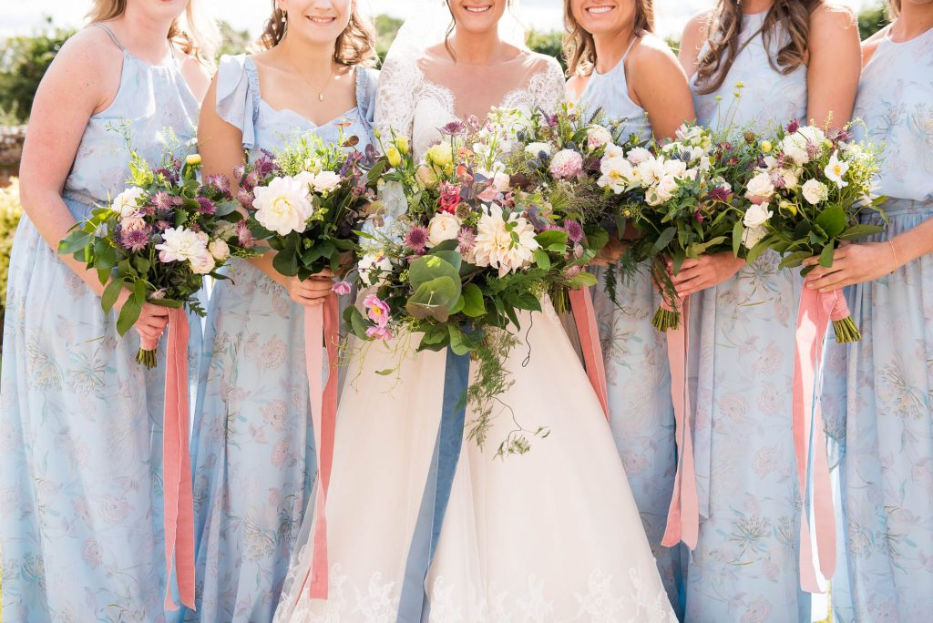 Summer floral wedding bouquets by Flowers at The Forge Norfolk
