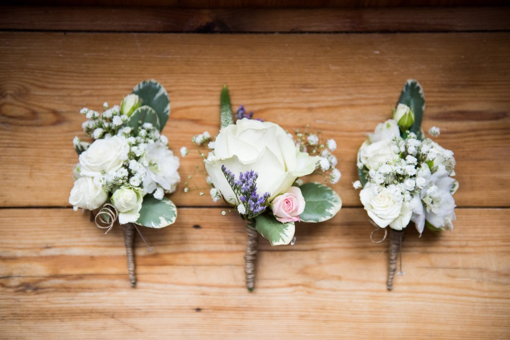 Buttonholes for Cornwall beach wedding