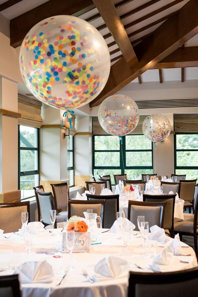 Fun colourful balloon decor Wilde Theatre Berkshire