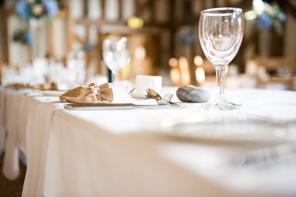 Wedding table decor Gate Street Barn wedding