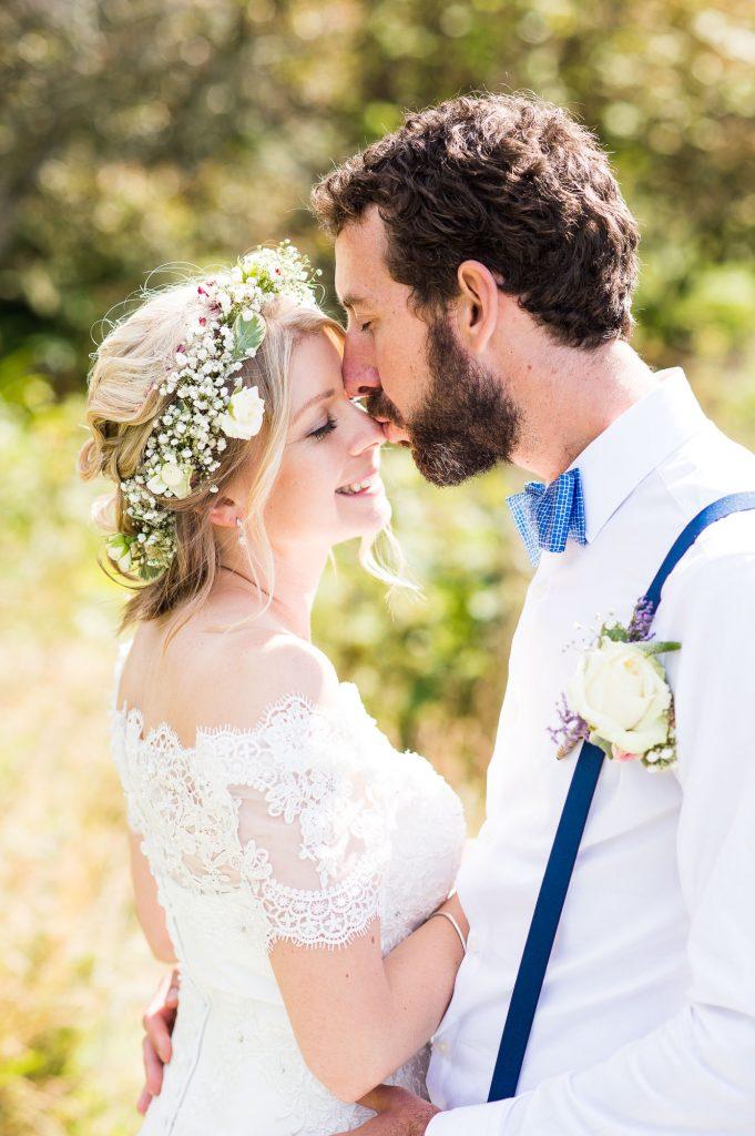 Natural wedding portrait Cornwall