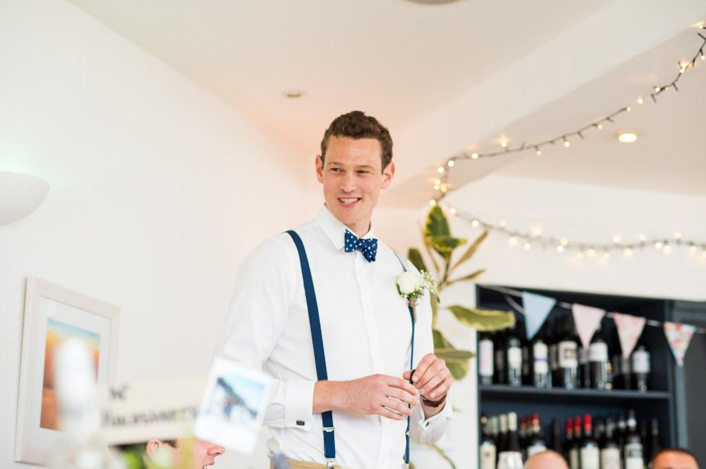 Best man delivers speech Driftwood Spars Wedding