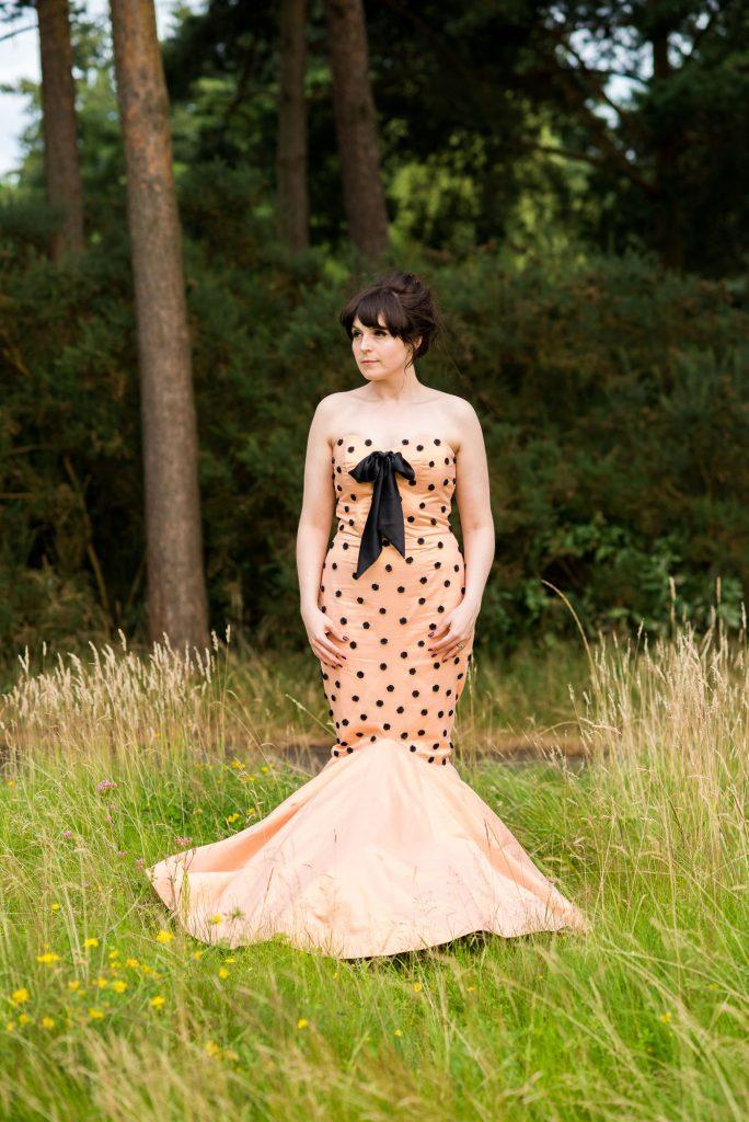 Alternative bride wearing Whirling Turban dress Berkshire
