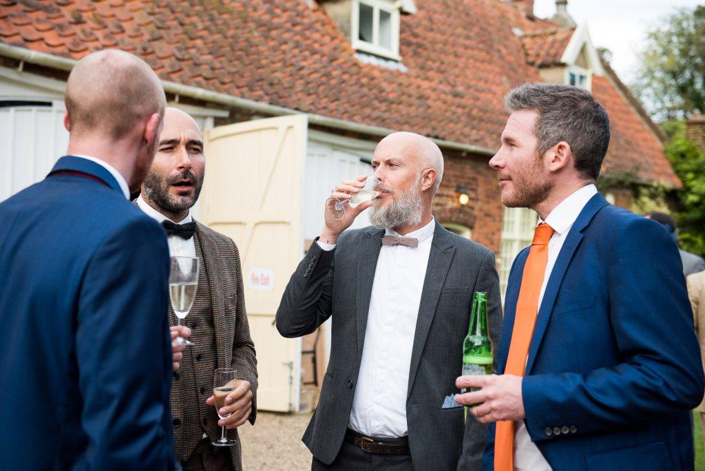 Wedding guests Norfolk Barn wedding