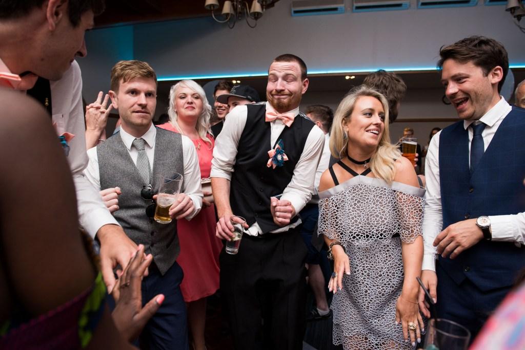 Funky dance floor moves Berkshire wedding