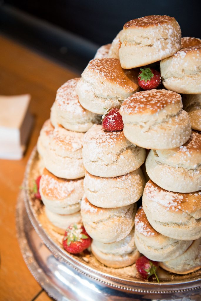 Afternoon tea scones St Agnes Cornwall wedding
