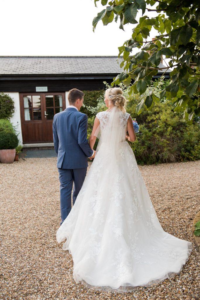 Elegant Ronald Joyce bride with Ashworth & Bird groom