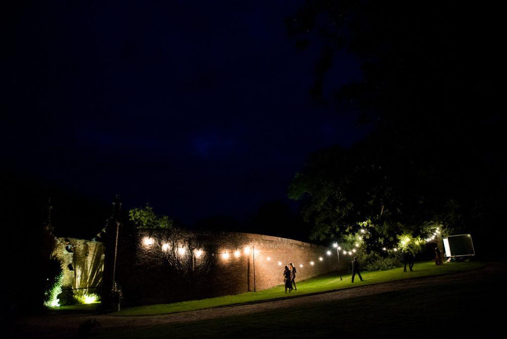 Spixworth Hall Barn Norfolk Barn wedding venue at night