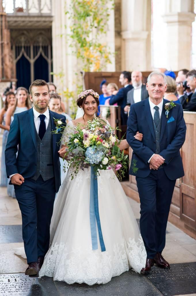 Elegant church wedding photography Norfolk