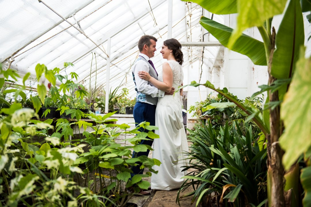 Greenhouse wedding portrait Documentary Wedding Photography Surrey Jessica Grace Photography
