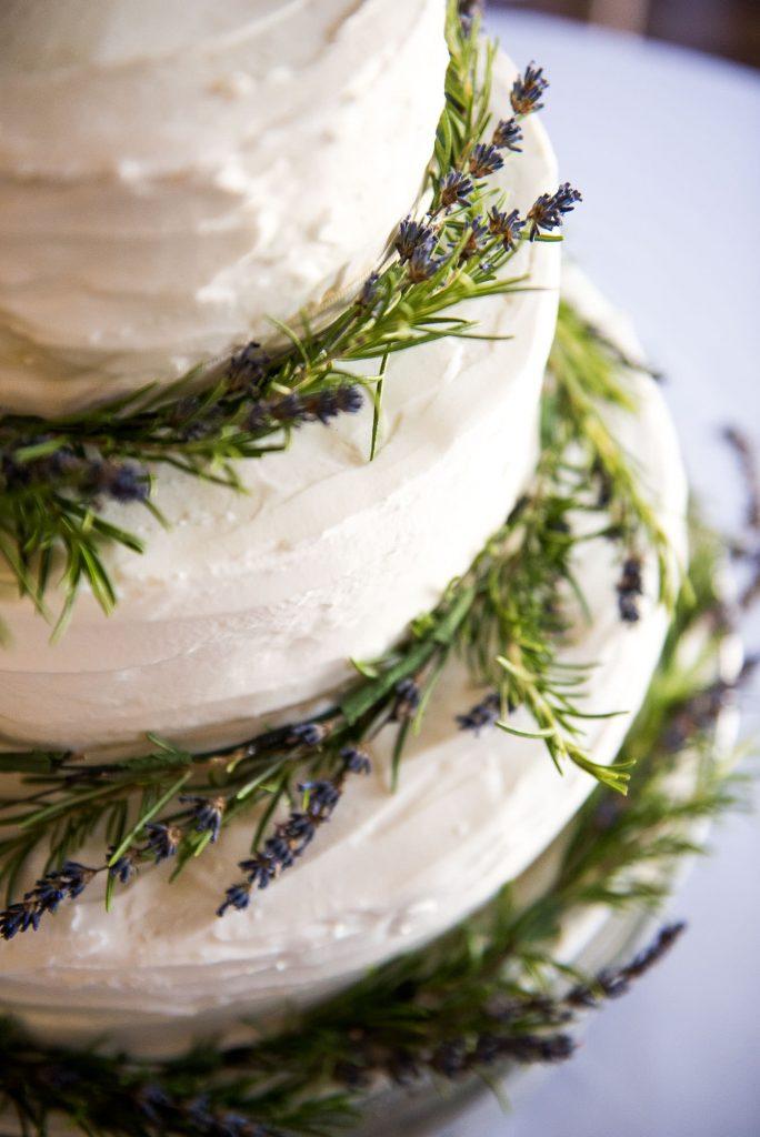Home made three tiered wedding cake