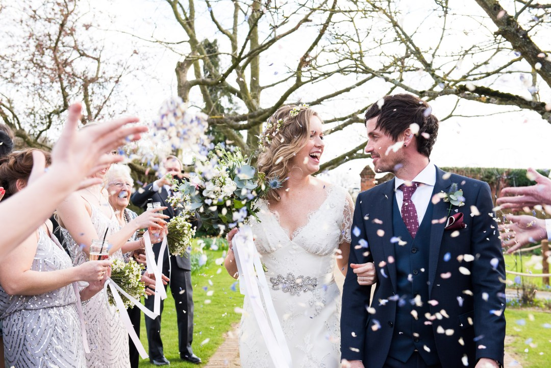 confetti shower at Gaynes Park