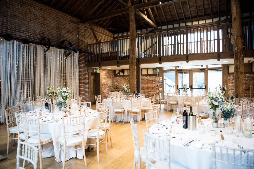 Gaynes Park barn decorated with boho touches