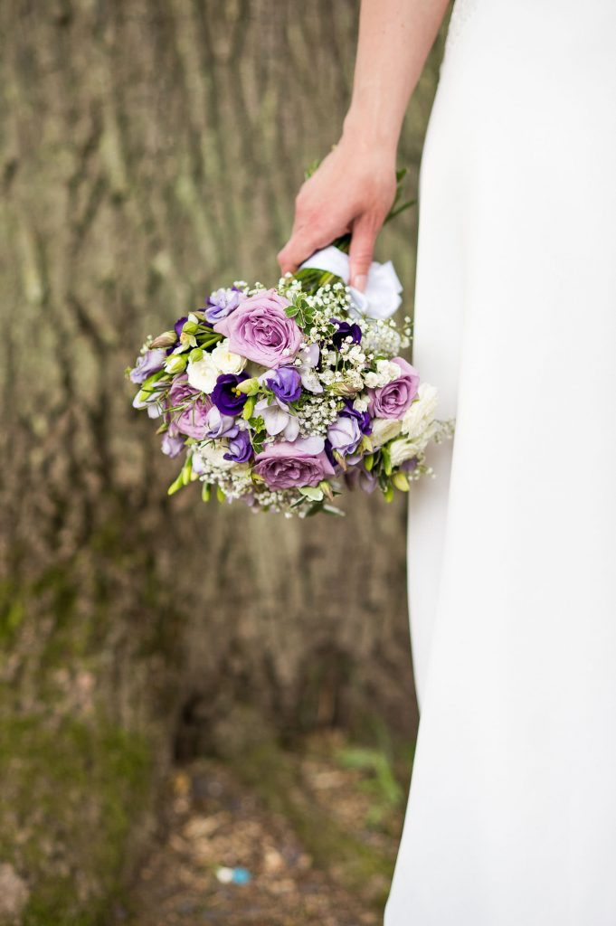 Delicate bridal bouquet Surrey wedding