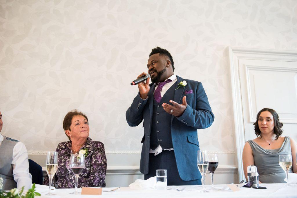 Best man speech Surrey wedding