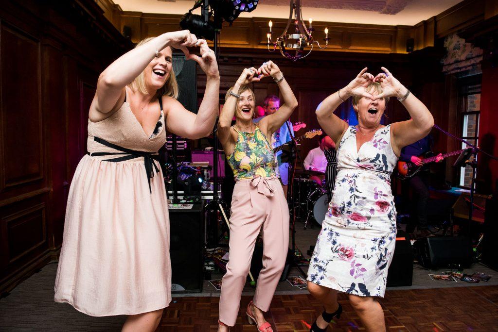 Ladies dancing fun wedding dance floor Surrey wedding
