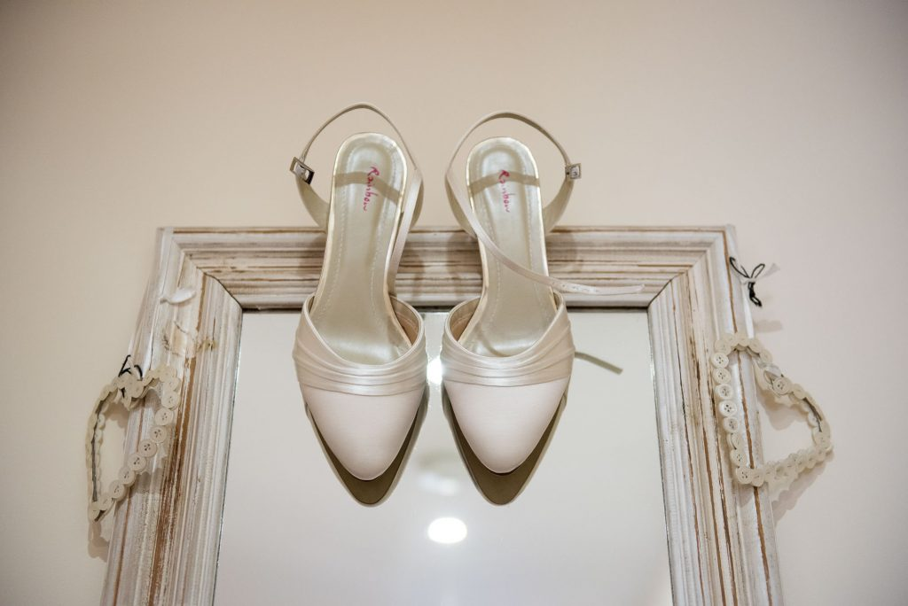 Ashridge House Wedding. Natural Wedding Photography. Bridal Rainbow Shoes, documentary bridal preparation photography.
