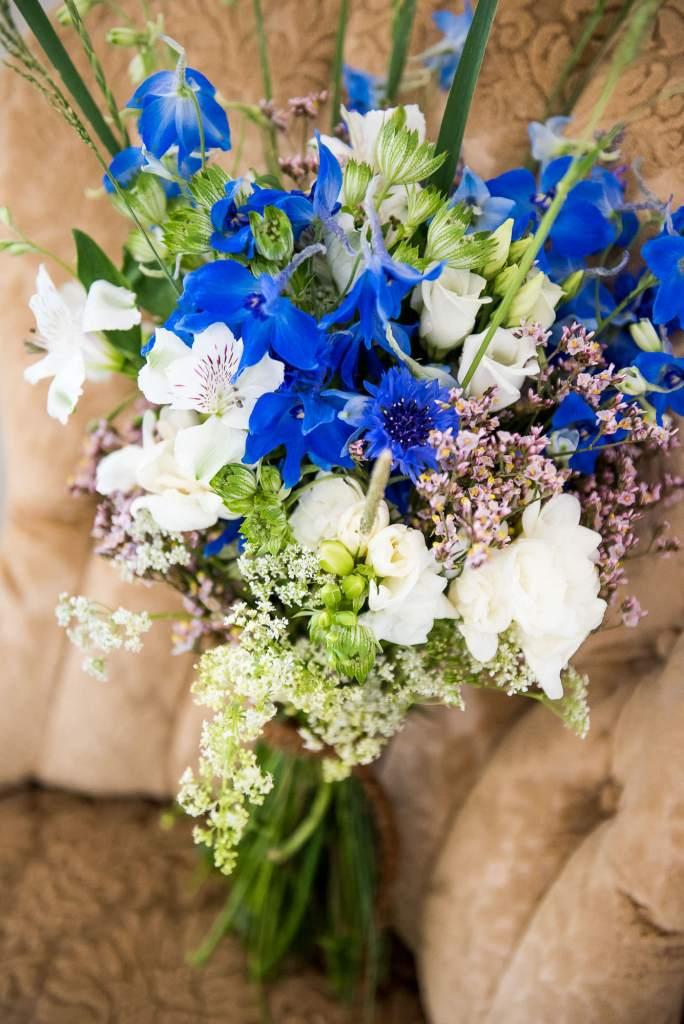 Swedish Wedding - Kroksta Gard Wedding - Bridal Bouquet Made With Wild Flowers