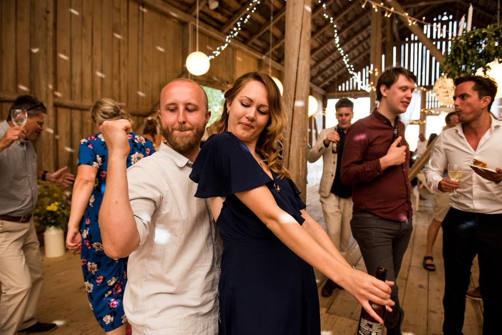 Swedish Wedding - Kroksta Gard Wedding - Spontaneous and Fun Dance Floor Photographs