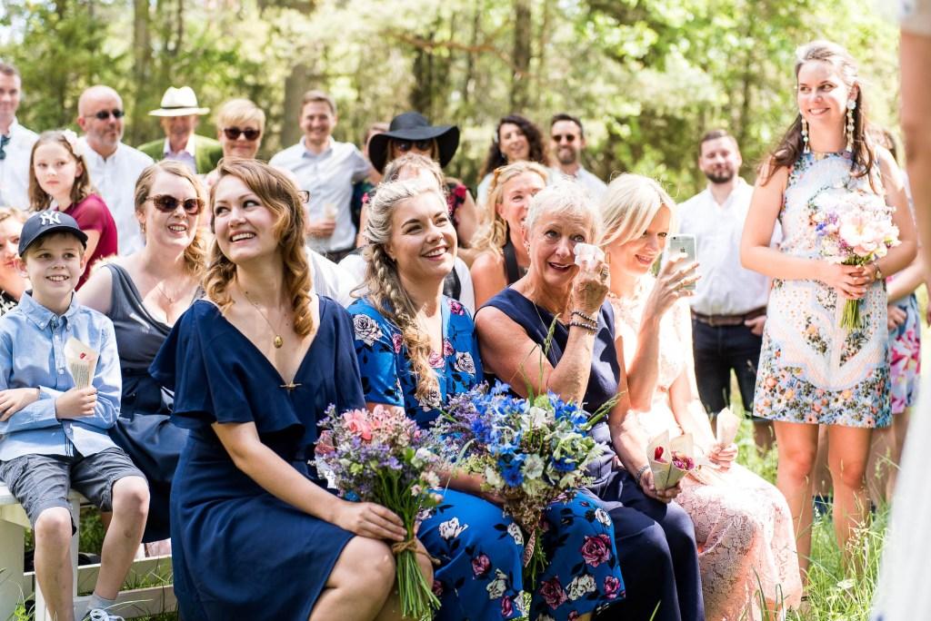Swedish Wedding - Kroksta Gard Wedding - Emotional Reactions During The Wedding Ceremony