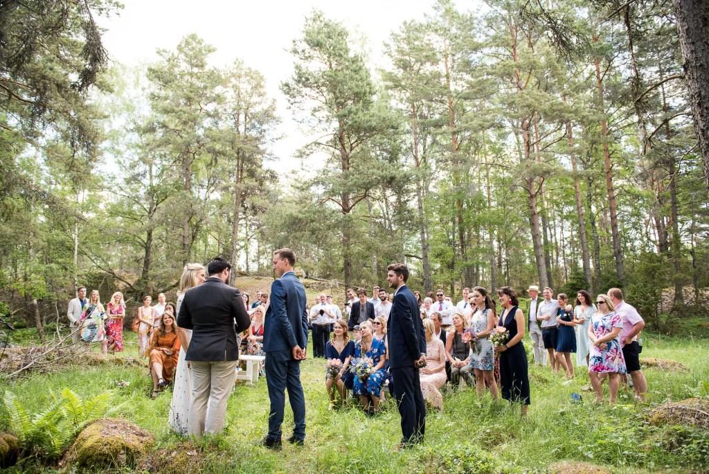 Swedish Wedding - Kroksta Gard Wedding - Outdoor Woodland Wedding Ceremony