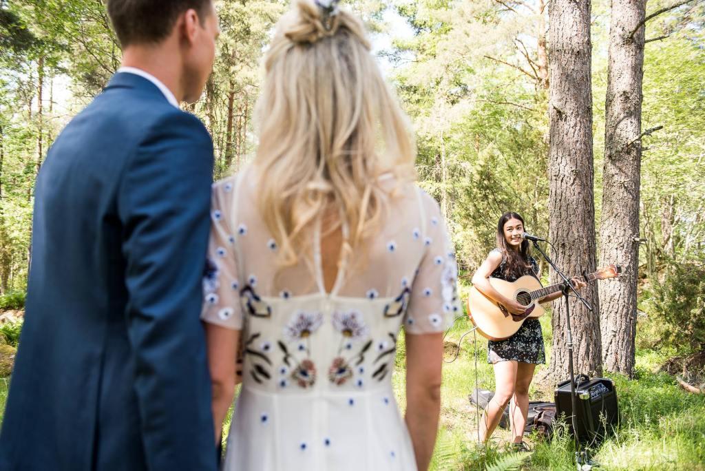 Swedish Wedding - Kroksta Gard Wedding - Live Entertainment at Woodland Wedding Ceremony