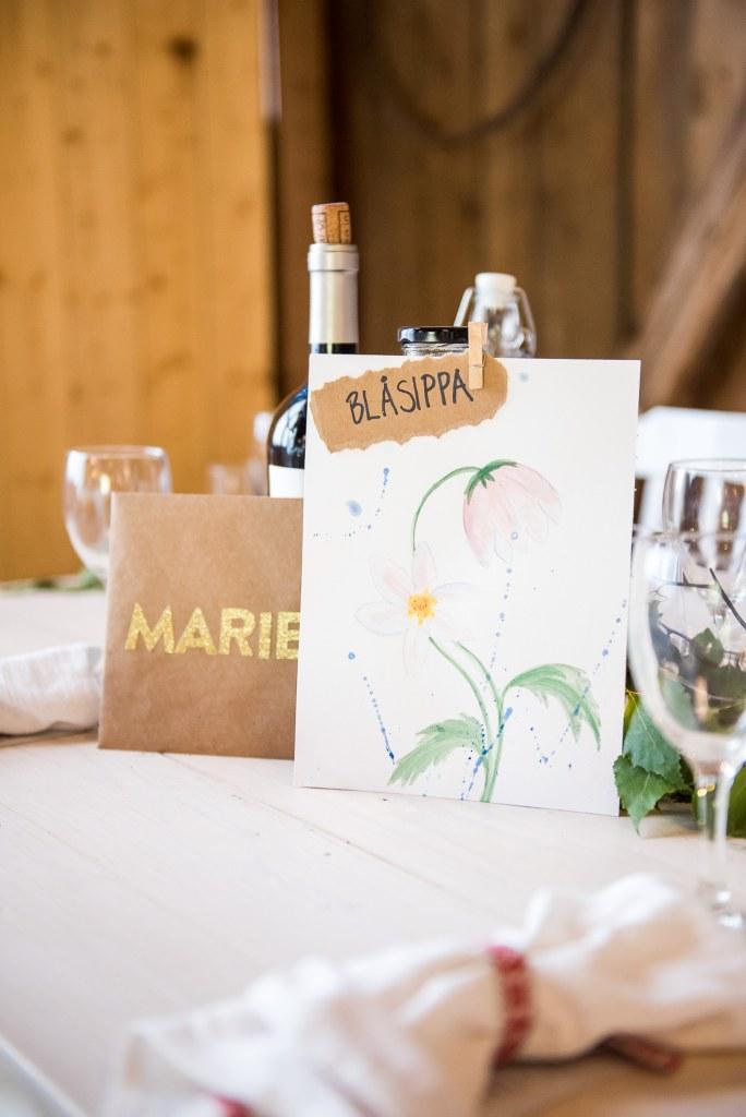 Swedish Wedding - Kroksta Gard Wedding - Rustic Barn Wedding With Hand Painted Table Settings