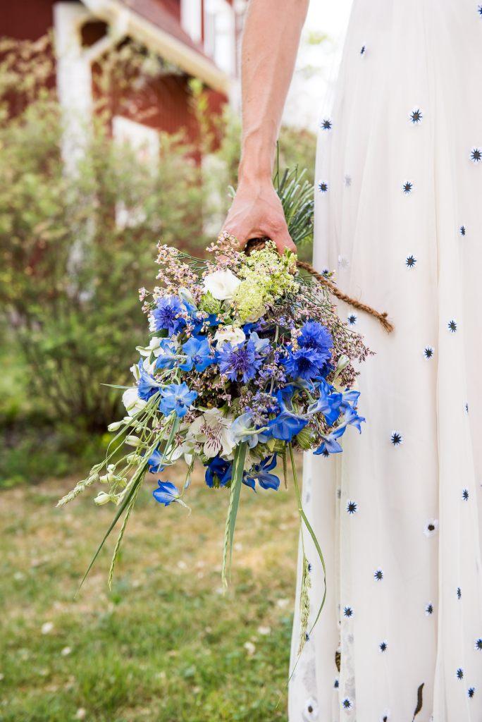 Swedish Wedding - Kroksta Gard Wedding - Gorgeous Boho French Connection Bride With Hand Made Bouquet