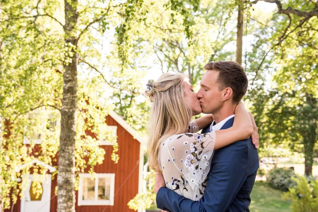 Swedish Wedding - Kroksta Gard Wedding - Romantic and Candid Couples Portrait