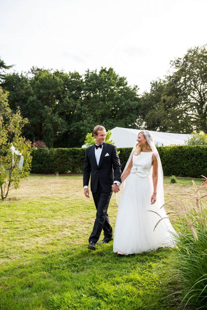 Relaxed Wedding Photography - Elegant Couple Portrait - Surrey Wedding
