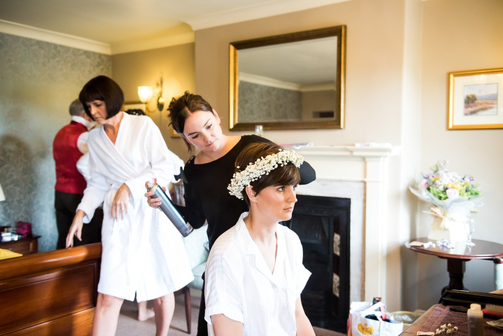 Inkersall Grange Farm Wedding - Same Sex Wedding Photography - Bridal Preparation Photography