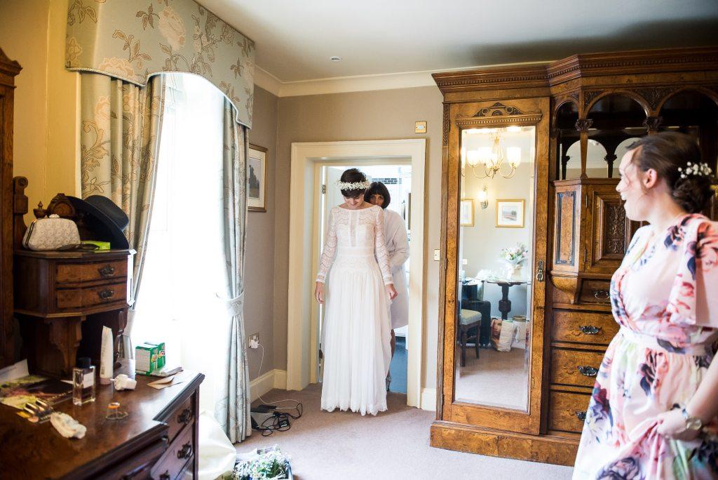 Inkersall Grange Farm Wedding - Same Sex Wedding Photography - Bride Reveals Her Wedding Dress