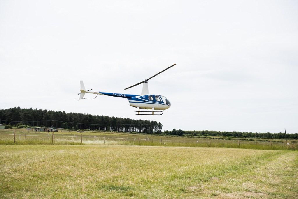 Inkersall Grange Farm Wedding - Same Sex Wedding Photography - Adventurous Bride Arrives In Helicopter