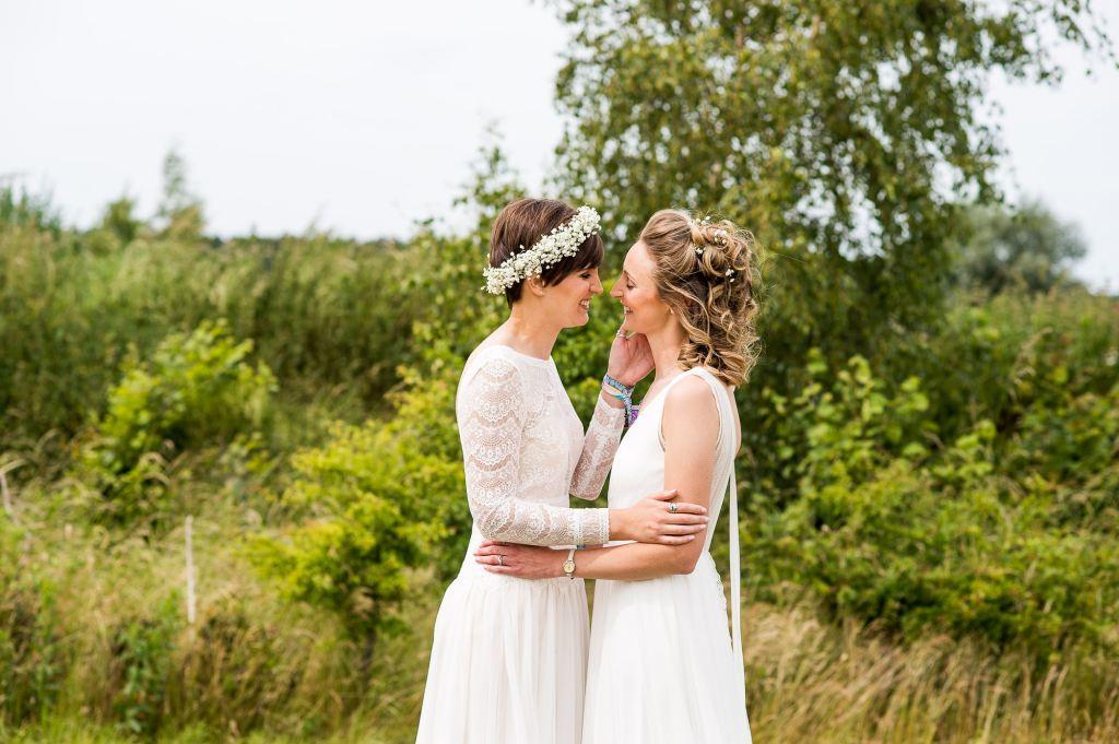 Inkersall Grange Farm Wedding - Same Sex Wedding Photography - Tipi Wedding