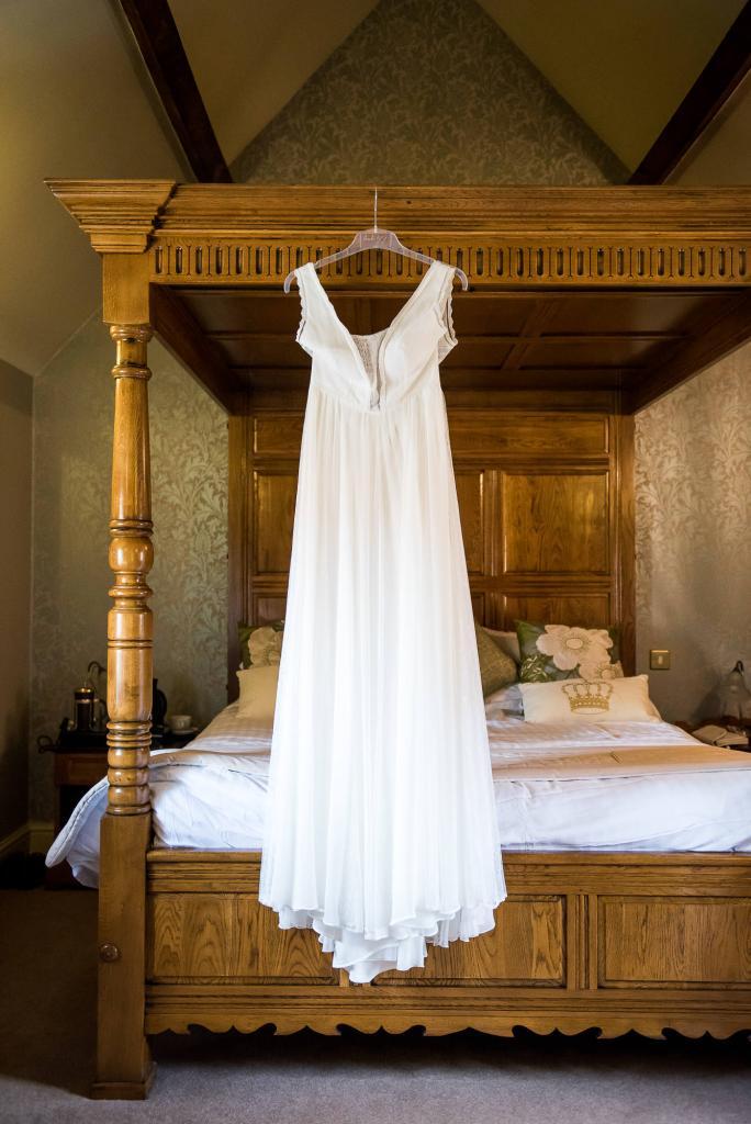 Inkersall Grange Farm Wedding - Same Sex Wedding Photography - Rembo Styling Wedding Dress