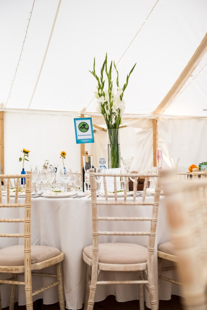 White Marquee Back Garden Wedding Decoration