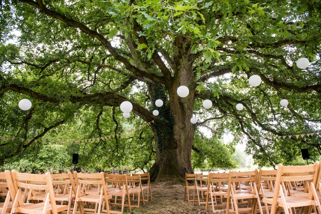 Outdoor Wedding Ceremony, Surrey Wedding Photography, Outdoor Wedding Ceremony With Wooden Chairs