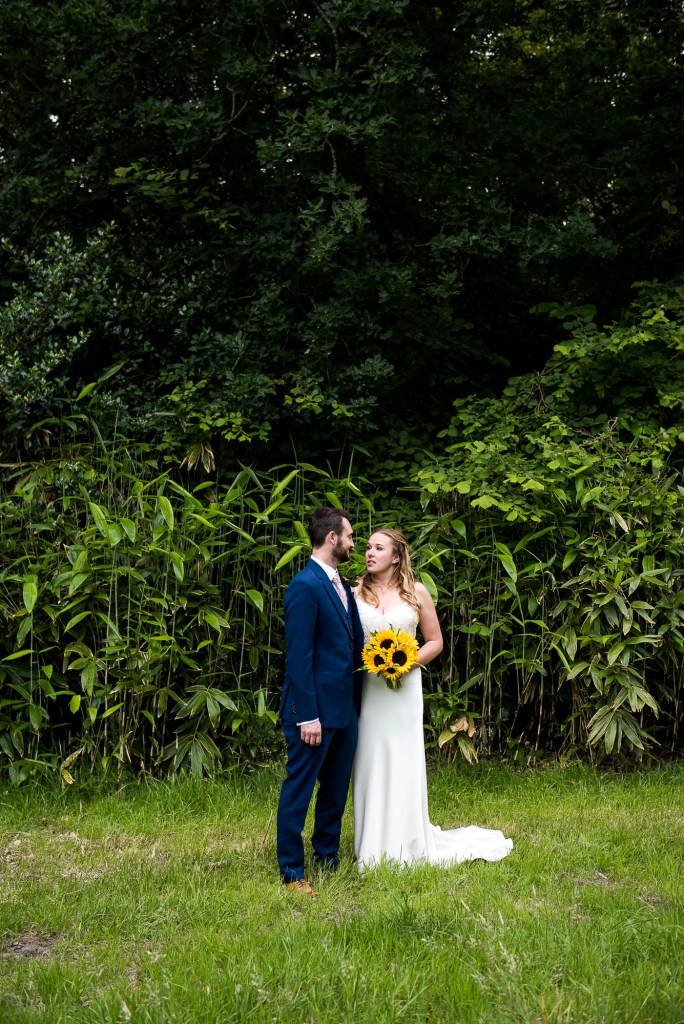 Natural Wedding Photographs With Bamboo Forest Backdrop Surrey