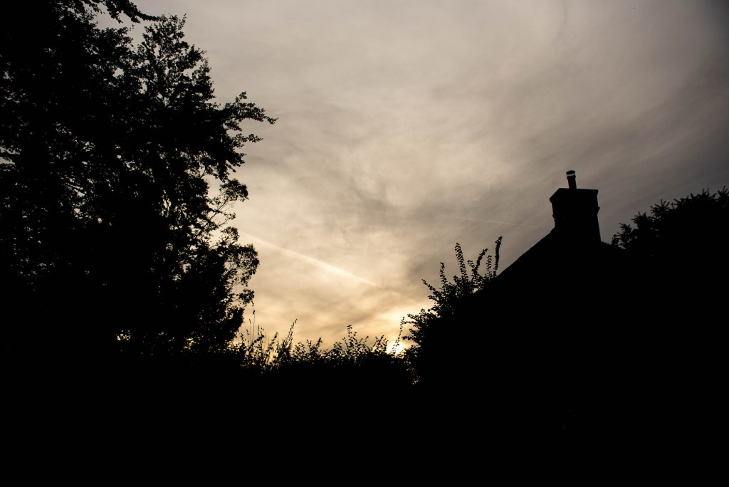 Outdoor Wedding Photography Surrey, Sunset Over Houses