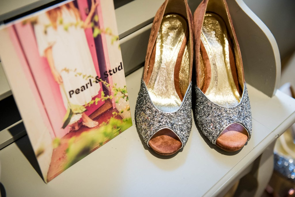Miss Bush Bridal, Pearl and Stud Glittery High Bespoke Heels, Surrey Wedding Photography