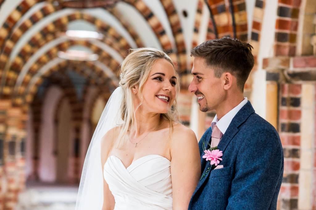 Fun wedding photography, natural wedding portrait Surrey Wedding