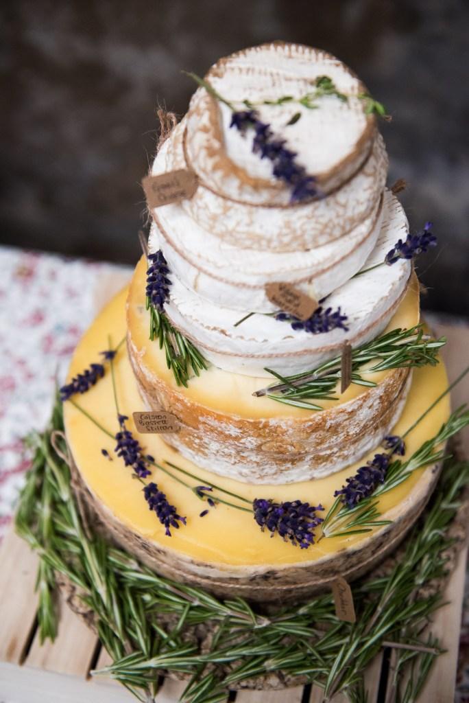 Cheese wedding cake © Jessica Grace Photography