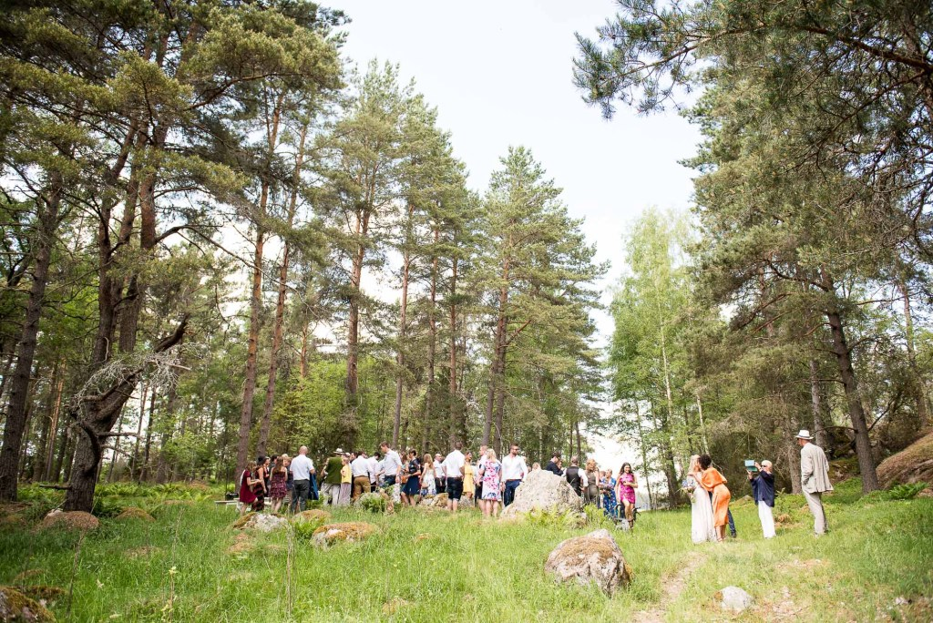 LGBT wedding photography, woodland wedding ceremony