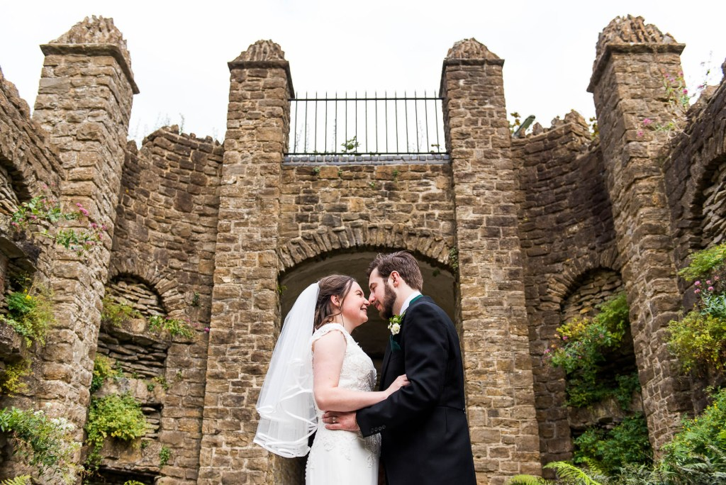 LGBT wedding photography, wedding portrait in Guildford castle gardens