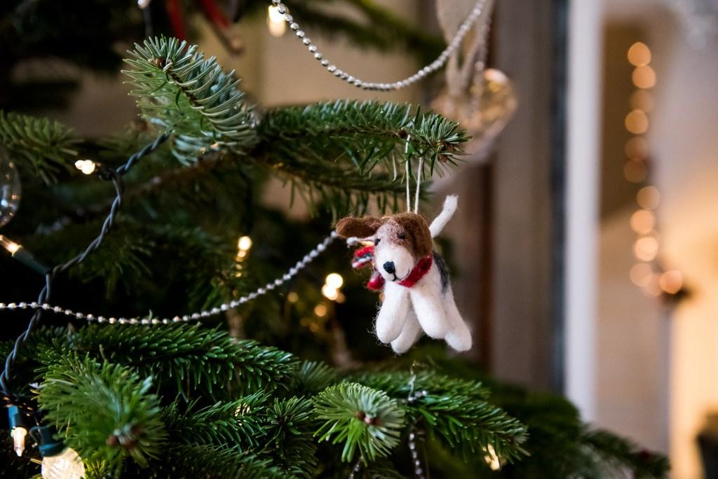 Personalised Christmas decoration on tree