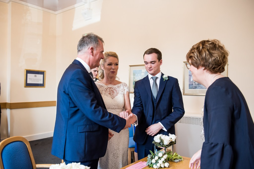 Son gives away his mother in Marlow wedding ceremony