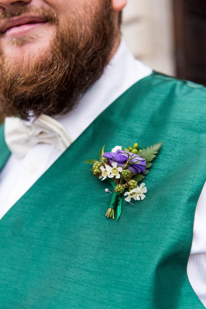 Groomsmen bespoke arrangement buttonholes