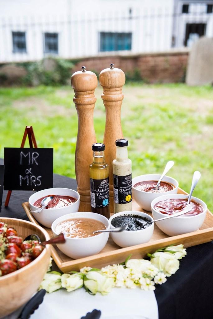 Wedding breakfast in a buffet style catering